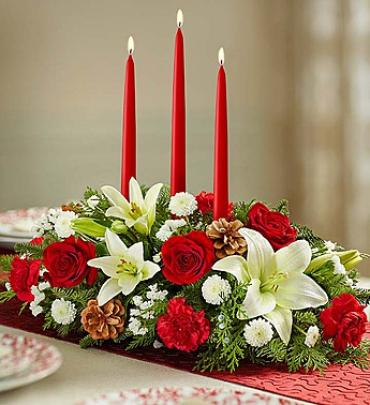 Traditional Christmas Centerpiece large