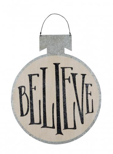 Large Tin Ball - Believe