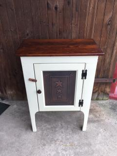 "31"" White Cabinet with Copper Door"