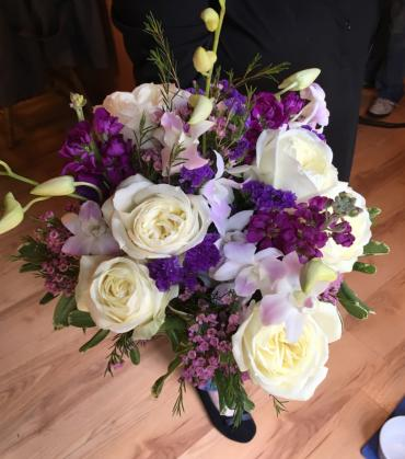 Garden Rose and Orchid Bouquet