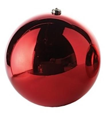 "6"" Med Red Plastic Ornament"