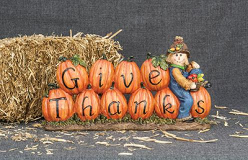 Give Thanks Scarecrow Tabletop