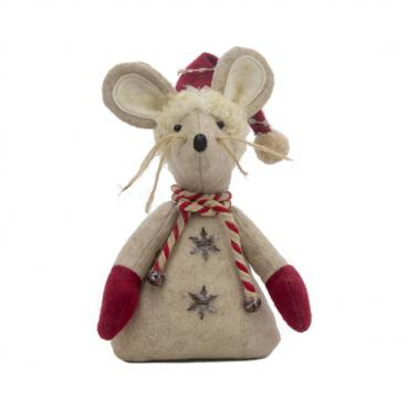 Small Winter Candy Cane Mouse
