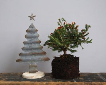 Corrugated Tin Christmas Tree