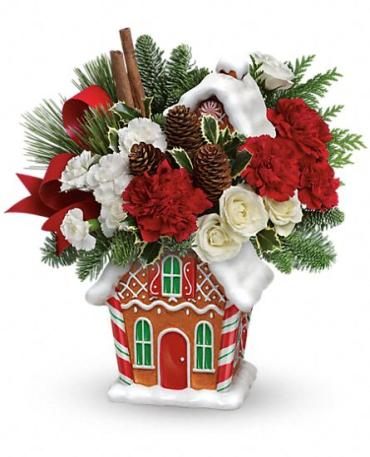 Teleflora\'s Ginger Bread Cookie Jar Bouquet