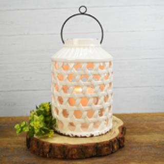 Large White Candle Jar