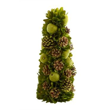 20 Inch Green Apple & Pinecone Tree