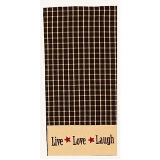 Live-Love-Laugh Check Towel