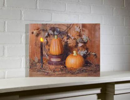 Lighted Pumpkin Spice Canvas Picture 71782
