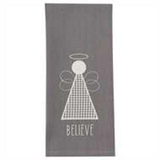 Believe Angel Applique Dishtowel
